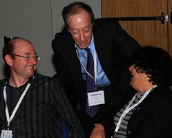 Jeff Greenwood (NZ Inst for Plant & Food Research), Aaron Etra (Int Council of ICMAN), Dr Vasundara Venkateswaran (UToronto)