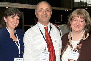 Prof Colleen Nelson (APCRC-Q), Mario Pennisi (Life Sciences Qld), Lee Anne Murphy (MAHRN Canada)