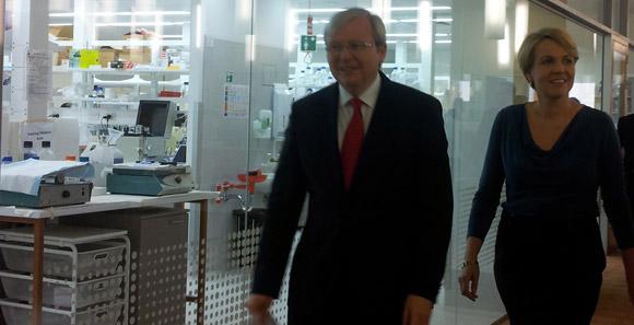 Prime Minister Kevin Rudd and Minister for Health Tanya Plibersek