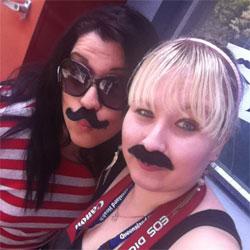 Movember - Amanda & Mel