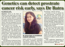 A/Prof Jyotsna Batra featured in Newspaper in India